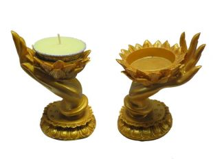 Lotus in hand votive