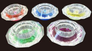 Crystal votive six sides (one piece)