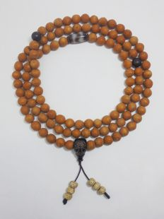 Phoenix Eye Bodhi Mala seed mala Unpolish 108beads 10-11mm