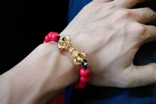 Dorjee and Cinnabar bracelet (Adjustable Length)